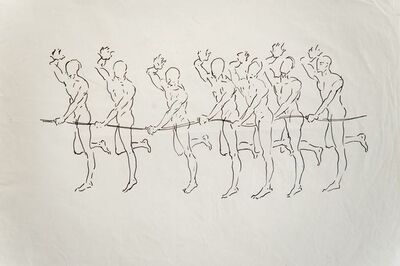 Antonio Hin-yeung Mak, 'Untitled (Seven men with string)', ca. 1975-1990