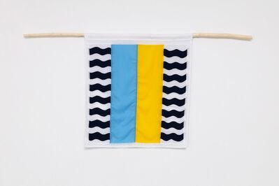 Samson Kambalu, 'Beni Flag: Blue Inoperative - Yellow Potential', 2019
