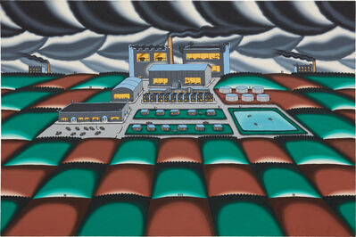 Roger Brown, 'Company Town, Feudal System', 1979