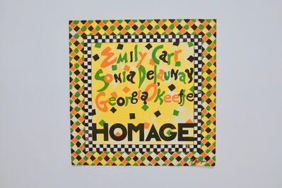 Miriam Schapiro, 'Homage', 1975