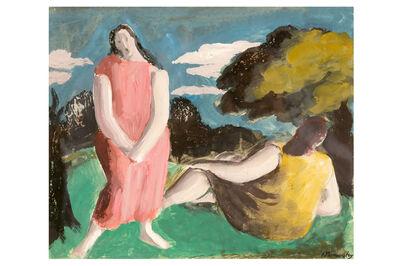 BERNARD MENINSKY, 'Two women in landscape'