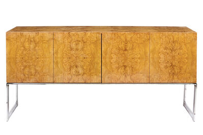 Milo Baughman, 'Milo Baughman Burl Olivewood and Chromed Metal Sideboard, Probably for Thayer Coggin', 1970s