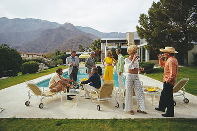 Slim Aarons, 'Desert House Party, 1970: A poolside party at a desert house, designed by Richard Neutra for Edgar J. Kaufmann, in Palm Springs', 1970