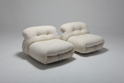 Afra Scarpa, 'Pair of Cassina 'Soriana' Lounge Chairs by Afra and Tobia Scarpa in Bouclé Wool, 1970s', 1970s