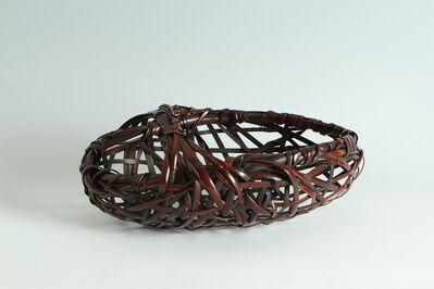 Tanabe Chikuunsai II, 'Bamboo Basket (T-3900)', Shōwa era (1926–89) 1970s