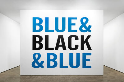 Kay Rosen, 'Black and Blue', 2019-2020
