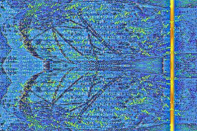 Joseph Nechvatal, 'viral attaque : blue billOw', 1992