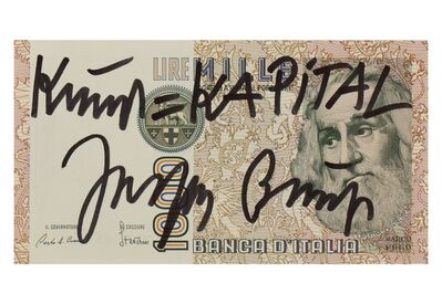 Joseph Beuys, 'Kunst = Kapital', 1979