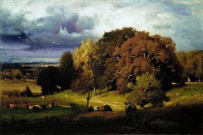 George Inness, 'Autumn Oaks', ca. 1878