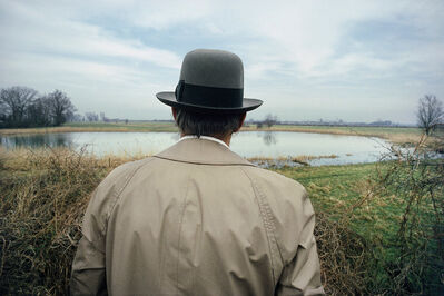 Gerd Ludwig, '#3 - Joseph Beuys in the kolk near Rinder', 1978