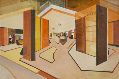 William Wegman, 'In Ramada Inn', 2016