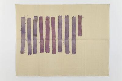 Giorgio Griffa, 'Strisce verticali', 1978