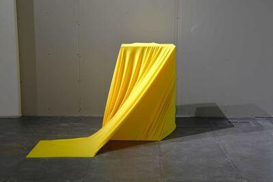 Christopher K. Ho, 'Fabric, pedestal, hammer, letter 'M' ', 2018