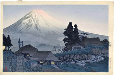 Hiroaki Takahashi (Shotei), 'Mt. Fuji from Mizukubo', ca. 1936