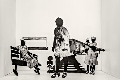 Lebohang Kganye, 'You couldn't stop the train in time', 2018