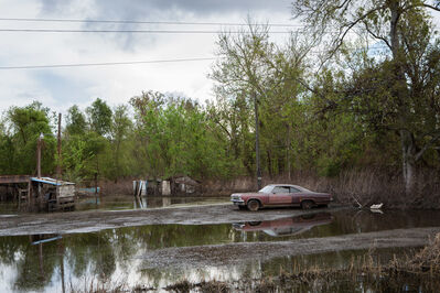 Carolyn Monastra, 'Old Car in Flooded Yard, Braithwaite, Louisiana', 2012