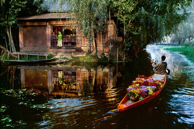 Steve McCurry, 'Flower Vendor on Dal Lake (Kashmir)', 1999