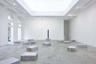 Giovanni Anselmo, 'Il panorama verso oltremare intorno dove le stelle si avvicinano di una spanna in piu', 2001