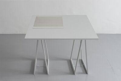 Stanley Brouwn, '1 x 1 m, 1m; 1 x 1 ell, 1 ell; 1 x 1 step, 1 step; 1 x 1 foot, 1 foot', 1991