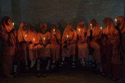 Rahima Gambo, 'School Girls with Candles (1)', 2017