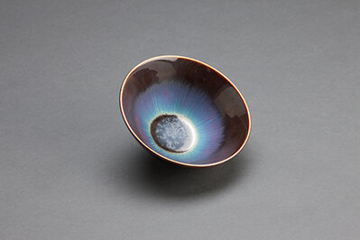 Hideaki Miyamura, 'Bowl, blue hare's fur glaze'