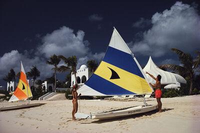 Slim Aarons, 'Sailing In Anguilla', 1992