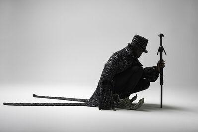 Maurice Mbikayi, 'Black knight Dandy', 2017