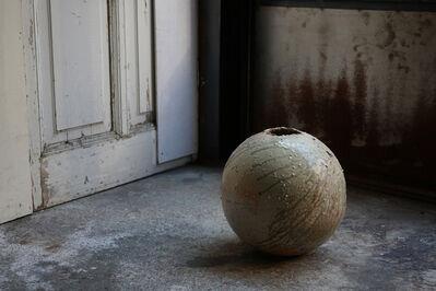 Shiro Tsujimura, 'Round jar natural ash glaze'