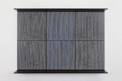 Jesús Rafael Soto, 'Ecriture bleu central', 1999