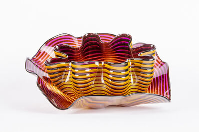Dale Chihuly, 'Dale Chihuly Original Amber Plum Seaform Set Handblown Glass Contemporary Art', 2015