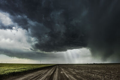 Eric Meola, 'Road with Supercell, Kansas', 2014