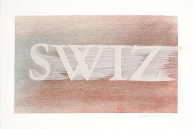 Ed Ruscha, 'SWIZ', 2017