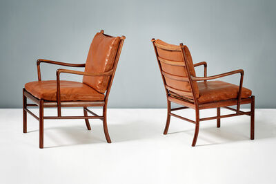 Ole Wanscher, 'Pair of PJ-149 Rosewood Colonial Chairs', 1949