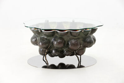 Lee Hun Chung, 'Glazed Ceramic Coffee Table with Stainless Steel Base and Glass Top', 2016