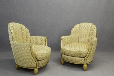 Paul Follot, 'Pair of Paul Follot Art Deco Armchairs Gilded Wood, circa 1920', 1920-1930