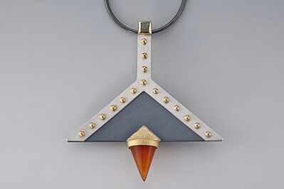 Janis Kerman, 'Silver and Gold Pendant on Chain'