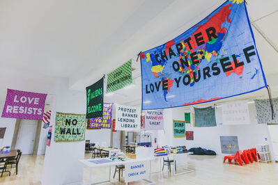 Aram Han Sifuentes, 'Protest Banners – Lending Library', 2016-2017
