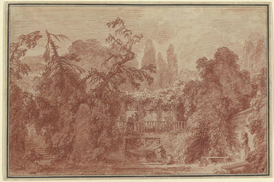 Jean-Honoré Fragonard, 'Terrace and Garden of an Italian Villa', 1762/1763