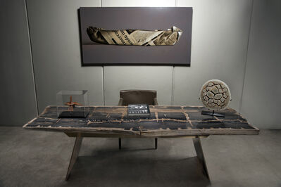Ernesto Durán, 'Petrified Wood Desk', 2017