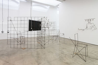 Neïl Beloufa, 'Installation view of Counting on People', 24 Sep 2014 -16 Nov 2014