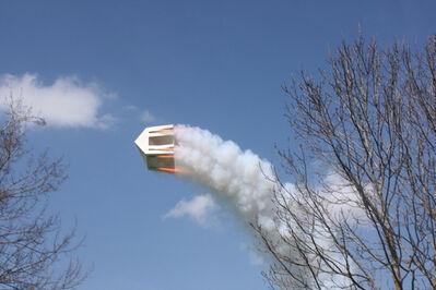 Roman Signer, 'Haus mit Raketen, Gais', 2013