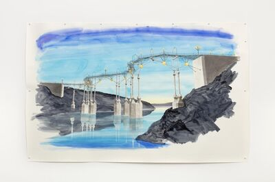 Charles Avery, 'Untitled (Study for a Bridge (Era of the Pentagon)', 2021