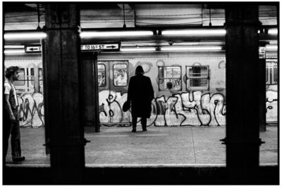Bill Aron, 'To 16th Street, New York City (Hassid in Subway)'
