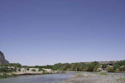 Peter Brown, 'German Tourists at the Rio Grande, Big Bend National Park', 2013
