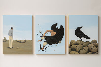 Emmanuel Crespo, 'Entering the Space of Poetry, triptych', 2020