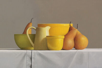 Janet Rickus, 'Bosc Pears and Pottery ', 2018