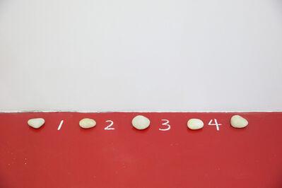 Mel Bochner, '5 Stones, 4 Spaces', 1972