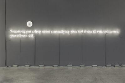 Joseph Kosuth, ''Existential time #5'', 2019