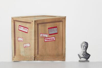 Geoffrey Farmer, 'Backstage, barn bust, crate medium'