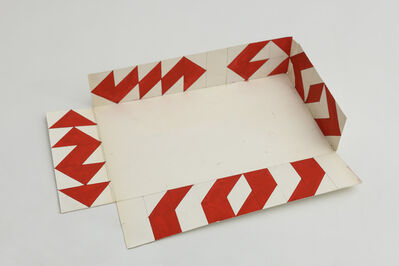 Tomás García Asensio, 'Untitled [red triangles]. Model of the installation for the Art Room of the University of Puerto Rico at Mayagüez', 1973